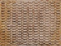 βρώμικο παλαιό πιάτο μετάλλων Στοκ Εικόνα