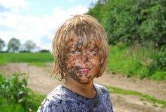 βρώμικο πρόσωπο Στοκ φωτογραφία με δικαίωμα ελεύθερης χρήσης