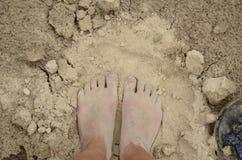 βρώμικο πόδι Στοκ Φωτογραφία