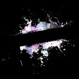 βρώμικο σχεδιάγραμμα splatter Στοκ Εικόνες