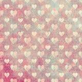 Βρώμικο υπόβαθρο καρδιών αγάπης Στοκ Εικόνες