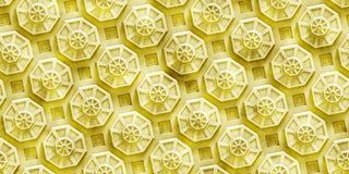 Βρώμικο υπόβαθρο τεχνολογίας με βασισμένες τις στο οκτάγωνο μορφές (άνευ ραφής) Στοκ εικόνα με δικαίωμα ελεύθερης χρήσης