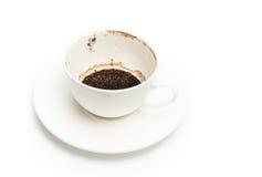 Βρώμικο φλυτζάνι καφέ Στοκ Εικόνες