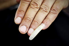 Βρώμικο χέρι ατόμων Στοκ Φωτογραφίες