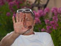 βρώμικο χέρι Στοκ εικόνα με δικαίωμα ελεύθερης χρήσης