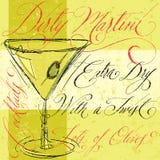 βρώμικο martini Στοκ Εικόνα