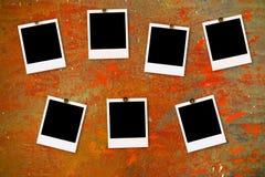 βρώμικο polaroid στοκ εικόνες