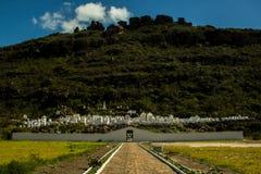 Βυζαντινό νεκροταφείο στην πόλη Mucugê, Chapada Diamantina στοκ φωτογραφίες