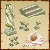 Βυθισμένα αρχιτεκτονική αντικειμένων και κοχύλι, στοιχείο έξι απεικόνιση αποθεμάτων