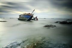 Βυθισμένα συντρίμμια Στοκ φωτογραφία με δικαίωμα ελεύθερης χρήσης