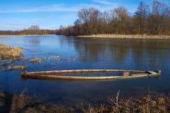 Βυθισμένος skiff Στοκ Εικόνες