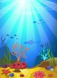 Βυθός με τα κοράλλια Στοκ Εικόνες