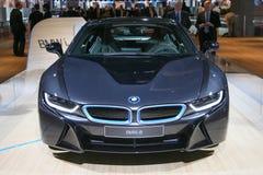 Βυσματωτό υβριδικό αθλητικό αυτοκίνητο BMW i8 Στοκ Εικόνες