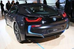 Βυσματωτό υβριδικό αθλητικό αυτοκίνητο BMW i8 Στοκ Φωτογραφίες