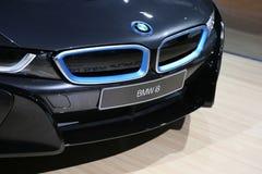 Βυσματωτό υβριδικό αθλητικό αυτοκίνητο BMW i8 Στοκ φωτογραφίες με δικαίωμα ελεύθερης χρήσης
