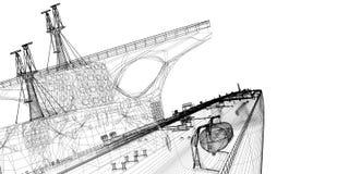 βυτιοφόρο σκαφών ακατέργ&al Στοκ Εικόνα