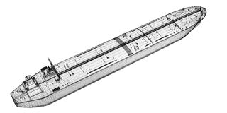 βυτιοφόρο σκαφών ακατέργ&al Στοκ Εικόνες