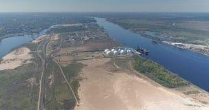 Βυτιοφόρο σκαφών πτήσης κηφήνων ναυπηγείων ποταμών Daugava και ναυτικό σκαφών φιλμ μικρού μήκους