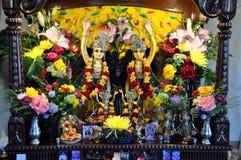 Βωμός - λαγοί Krishna θεοτήτων στοκ φωτογραφία