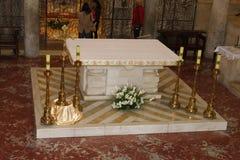 Βωμός, η εκκλησία Annunciation, Ναζαρέτ, Ισραήλ Στοκ φωτογραφίες με δικαίωμα ελεύθερης χρήσης
