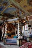 Βωμός θόλων στην ιερή εκκλησία τριάδας σε Czaplinek Στοκ Εικόνες