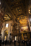 Βωμός στη βασιλική του ST John Lateran στη Ρώμη Ιταλία Στοκ εικόνα με δικαίωμα ελεύθερης χρήσης