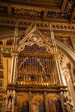 Βωμός στη βασιλική του ST John Lateran στη Ρώμη Ιταλία Στοκ φωτογραφία με δικαίωμα ελεύθερης χρήσης