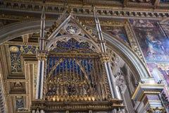 Βωμός στη βασιλική του ST John Lateran στη Ρώμη Ιταλία Στοκ εικόνες με δικαίωμα ελεύθερης χρήσης