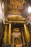 Βωμός στη βασιλική του ST John Lateran στη Ρώμη Ιταλία Στοκ Εικόνα