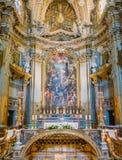 Βωμός της βασιλικής του Santi ΧΙΙ Apostoli, στη Ρώμη, Ιταλία Στοκ Εικόνες