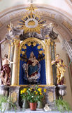 Βωμός της Virgin Mary στον καθεδρικό ναό του Άγιου Βασίλη σε Novo Mesto, Σλοβενία Στοκ φωτογραφίες με δικαίωμα ελεύθερης χρήσης