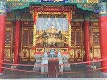 Βωμός του Βούδα στο ναό Yuantong Στοκ Εικόνες