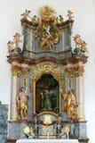 Βωμός του ST Paul ο ερημίτης, εκκλησία της αμόλυντης σύλληψης της Virgin Mary σε Lepoglava, Κροατία Στοκ Εικόνες