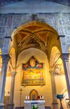 Βωμός Χριστού Anointing που χρωματίζει την εκκλησία Φλωρεντία Αγίου Charles αυτό Στοκ Εικόνες