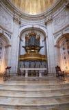 Βωμός apse με το μπαρόκ όργανο της εκκλησίας τώρα Nati Santa Engracia Στοκ εικόνες με δικαίωμα ελεύθερης χρήσης