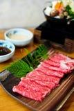 Βόειο κρέας για το shabushabu Στοκ Εικόνα