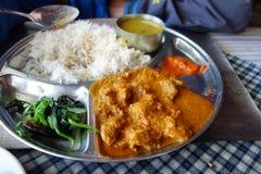 Βόειο κρέας κάρρυ με το ρύζι Στοκ Εικόνα