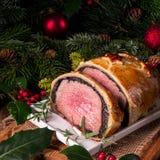 Βόειο κρέας Ουέλλινγκτον ως δημιουργία εμφάνισης στοκ εικόνα