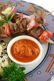 βόειο κρέας 10 kababs Στοκ Εικόνες