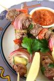 βόειο κρέας 9 kebabs στοκ εικόνα