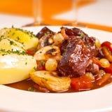 Βόειο κρέας bourguignon Στοκ Φωτογραφίες