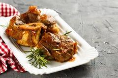 Βόειο κρέας bucco Osso Στοκ Εικόνες