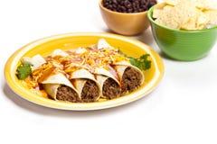 Βόειο κρέας Enchiladas Στοκ Φωτογραφία