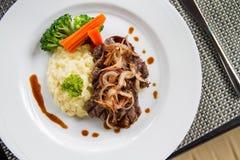 Βόειο κρέας Escalopes Στοκ Φωτογραφία