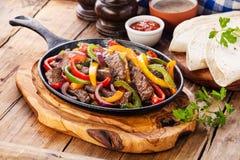 Βόειο κρέας Fajitas Στοκ Εικόνες