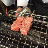 βόειο κρέας hida που ψήνεται στη σχάρα Στοκ Φωτογραφία