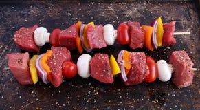 βόειο κρέας kebabs στοκ εικόνες με δικαίωμα ελεύθερης χρήσης