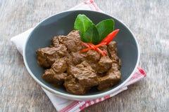 Βόειο κρέας Rendang, ινδονησιακά τρόφιμα Στοκ εικόνα με δικαίωμα ελεύθερης χρήσης