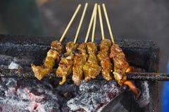 βόειο κρέας satay στοκ φωτογραφίες