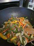 Βόειο κρέας Sauteed &Beans στοκ φωτογραφίες με δικαίωμα ελεύθερης χρήσης